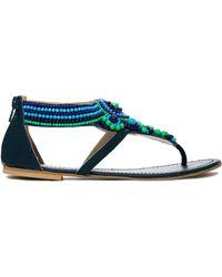 Vince Camuto Sandals Allik Beaded Flat Sandals In Blue