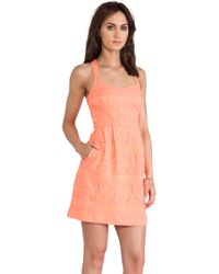 Nanette Lepore Orange Sizzling Dress - Lyst