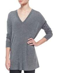 The Row Long-Sleeve Oversized V-Neck Sweater - Lyst