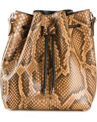 Proenza Schouler Drawstring Snakeskin Bucket Bag - Lyst