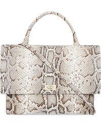 Givenchy Zanzi Python Over The Shoulder Handbag - Lyst