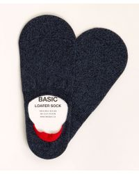 Mr Gray - No Show Loafer Sock In Indigo - Lyst