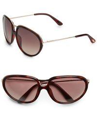 Tom Ford Faye Metal & Acetate Sunglasses - Lyst