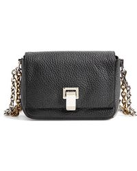Proenza Schouler 'Small Courier' Pebbled Leather Crossbody Bag black - Lyst