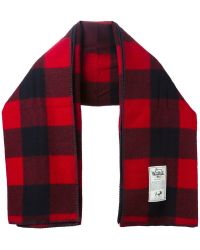 Woolrich - Block Check Scarf - Lyst