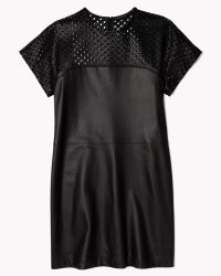 Theory Kanila Dress In Lasercut Leather - Lyst