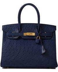 Hermès | Blue Iris Ostrich Birkin 30cm | Lyst