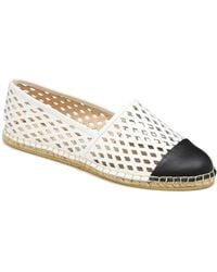 Loeffler Randall White and Black Mara Captoe Espadrille - Lyst
