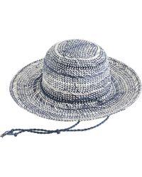 J.Crew Open-Weave Sun Hat blue - Lyst