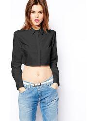Asos Crop Shirt - Lyst