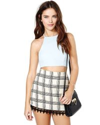 Nasty Gal After Party Vintage Bianca Crop Top - Lyst