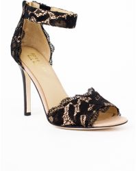 Nicole Miller Cocoa Lace Heels black - Lyst