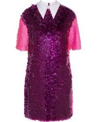 House Of Holland Paillette Embellished Tulle Mini Dress - Lyst