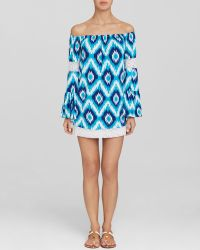 Macbeth Collection - Ikat Print Swim Cover Up Tunic - Lyst