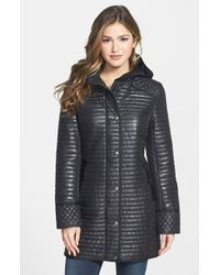DKNY Quinn Hooded Quilted Coat - Lyst