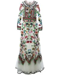Valentino Beaded And Embroidered Evening Dress - Lyst