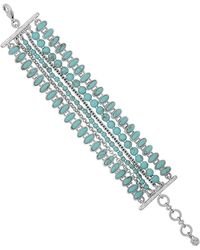 Lucky Brand - Turquoise Multi-row Stretch Bracelet - Lyst
