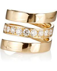Roberto Marroni - Women's Diamond Spiral Ring - Lyst