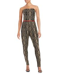 California MoonRise - Strapless Belted Jumpsuit - Lyst