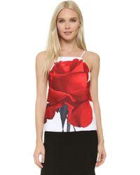 Karla Špetic - Window Visions Top - Rose Print - Lyst