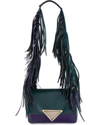 Sara Battaglia Teresa Fringed Shoulder Bag - Lyst