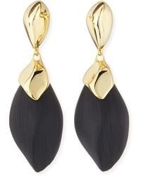 Alexis Bittar Kinshasa Liquid Metalcapped Black Lucite Earrings - Lyst