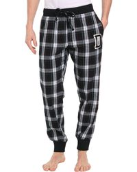 Diesel Patchboy Checked Grey Pyjama Bottoms - Lyst