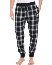 Diesel Patchboy Checked Grey Pyjama Bottoms - Lyst