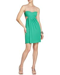BCBGMAXAZRIA Aicha Sleeveless Draped Skirt Dress - Lyst