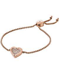 Michael Kors Pave Heart Slider Bracelet - Lyst