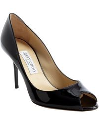 Jimmy Choo Black Patent Leather Evelyn Pumps - Lyst