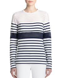 Jean Paul Gaultier Mixed-Stripe Tee blue - Lyst