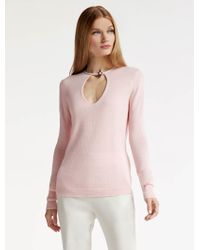 Halston | Cashmere Sweater With Toggle Detail | Lyst