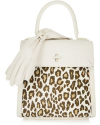 Charlotte Olympia Bogart Leopard-Print Calf Hair And Textured-Leather Tote - Lyst
