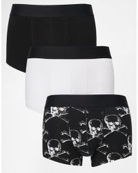ASOS - 3 Pack Hipsters With Skull Print Save 20% - Lyst