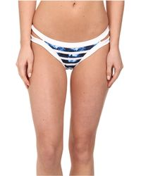 Seafolly Inked Stripe Brazillian Pants - Lyst