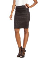 Andrew Marc - Woven Leather Skirt - Lyst