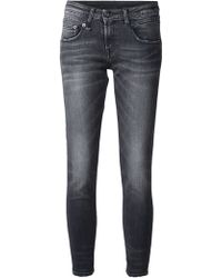 R13 Skinny Cropped Mid-Rise Stretch-Denim Jeans - Lyst