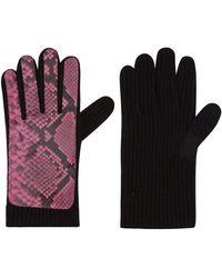 Christopher Kane - Pink Snakeskin Cashmere Gloves - Lyst