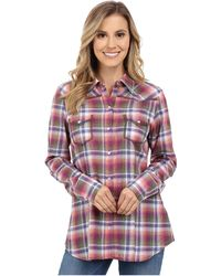 Stetson - Orchid Plaid Long Sleeve Western Shirt - Lyst