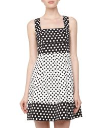Ivy & Blu Openback Polka Dot Fitandflare Dress - Lyst