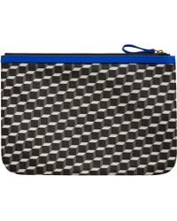 Pierre Hardy Large Blue Cube Pouch - Lyst