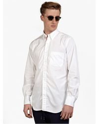 Thom Browne Men'S White Cotton Shirt - Lyst