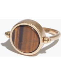 Madewell Brown Pivot Ring - Lyst