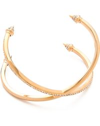 Vita Fede - Double Crossed Titan Bracelet - Rose Gold/Clear - Lyst