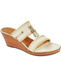 Jack Rogers - Alana Leather Thong Sandals - Lyst