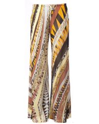 Emilio Pucci Wide Leg Printed Trousers - Lyst