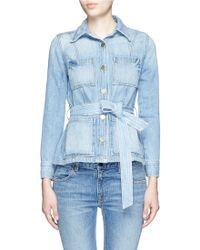 Frame Denim | 'le Patch Pocket' Denim Jacket | Lyst