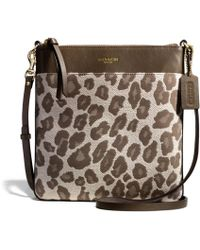 COACH - Madison Northsouth Swingpack in Ocelot Jacquard - Lyst