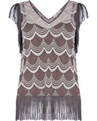 Oasis | Scallop Lace Fringed Top | Lyst